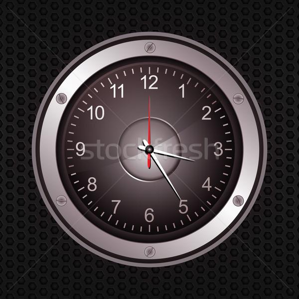 Reloj orador negro metálico música Foto stock © elaine