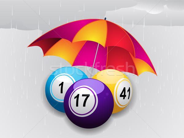 зима бинго зонтик серый дождь Сток-фото © elaine