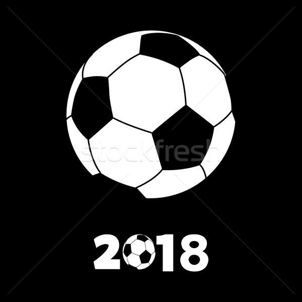 Football football silhouette dessin style blanche Photo stock © elaine