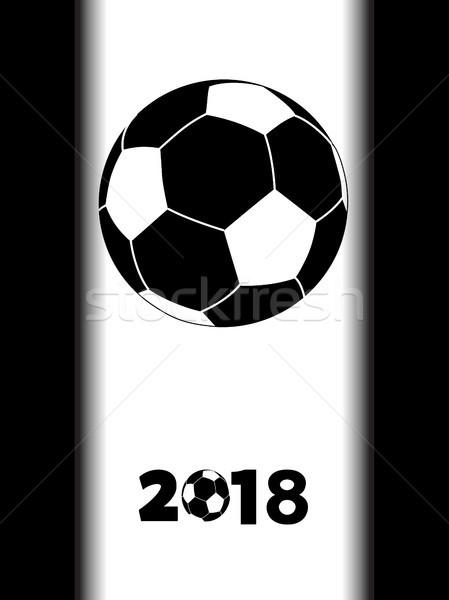 サッカー 黒 シルエット 白 パネル サッカー ストックフォト © elaine