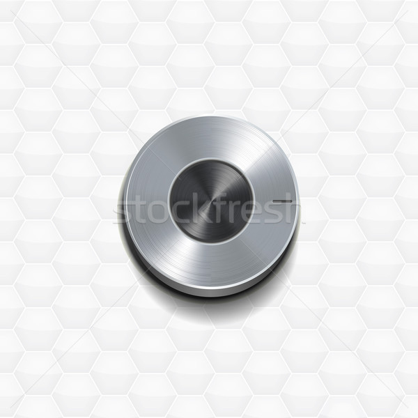 Silver 3d Dial on a white backgroud Stock photo © elaine