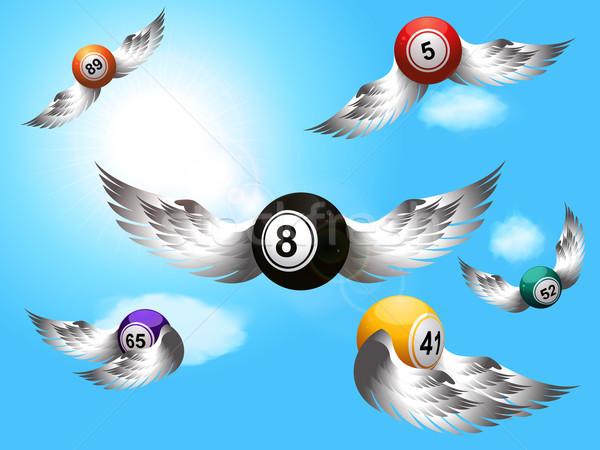 Flying бинго крыльями лотерея серебро Сток-фото © elaine