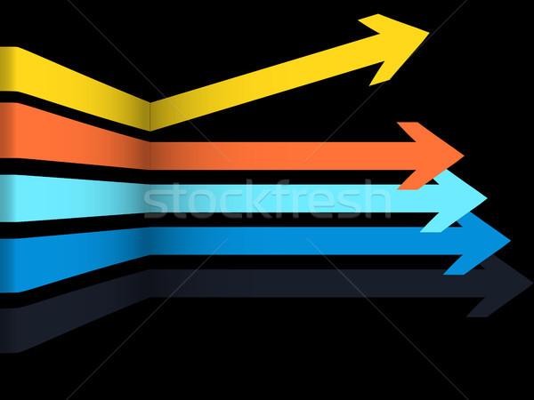 3D multicolor flechas negro 3d geométrico Foto stock © elaine