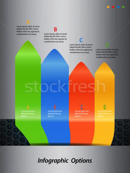 Infografía flechas metal retrato metálico negocios Foto stock © elaine