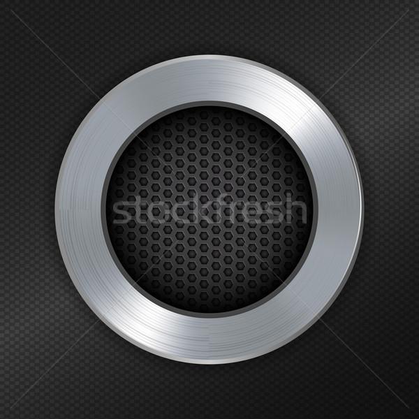 brushed metallic and mesh circle border Stock photo © elaine
