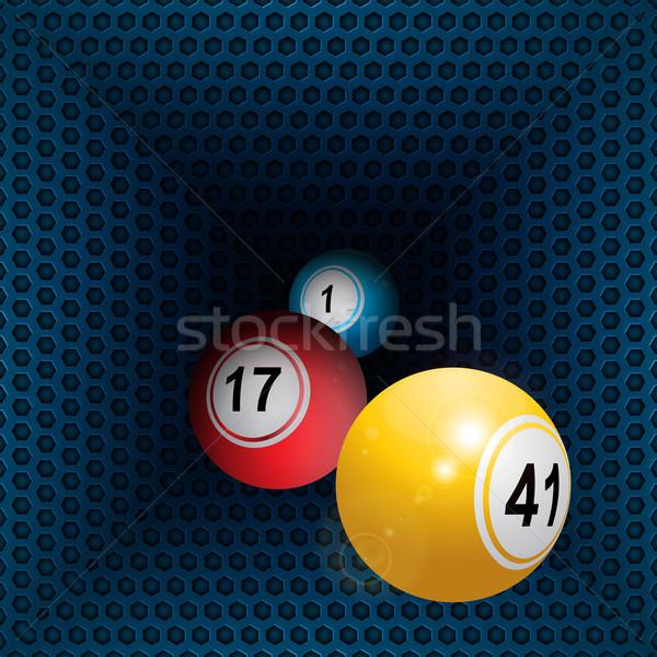Metálico panal túnel bingo tres Foto stock © elaine