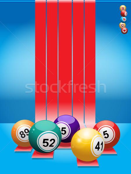 Bingo Rood Blauw groene Stockfoto © elaine