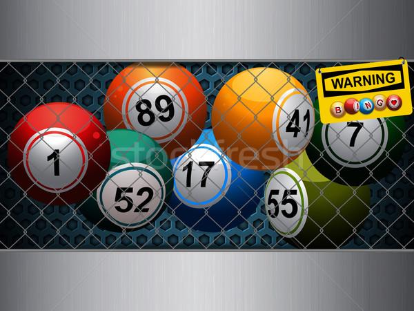 Bingo cage with warning sign Stock photo © elaine