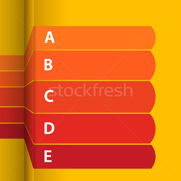 Rood Geel blanco papier Stockfoto © elaine