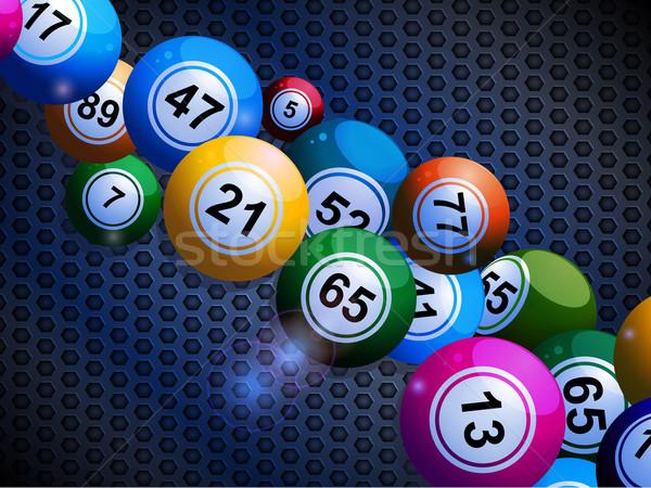 Bingo petek madeni uçan objektif Stok fotoğraf © elaine