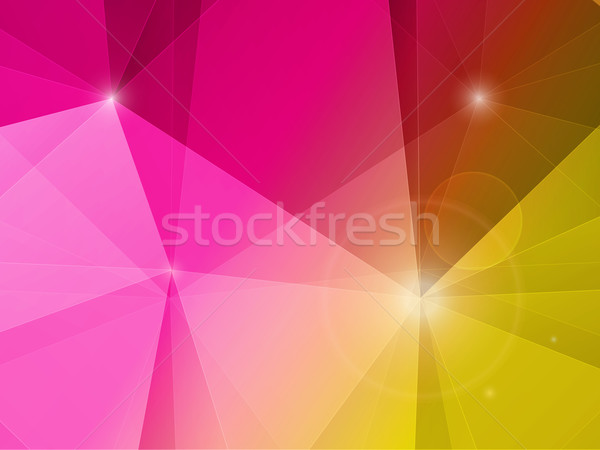 аннотация многоугольник мозаика розовый желтый пейзаж Сток-фото © elaine