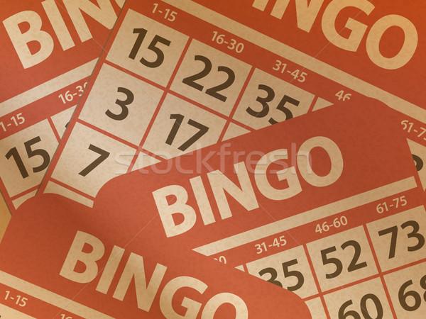 Bingo carte carta marrone stampata nero Foto d'archivio © elaine
