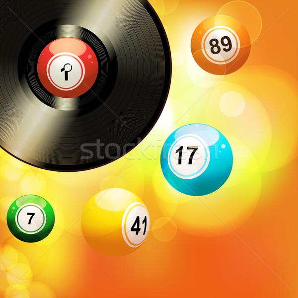 Vinilo registro bingo naranja Foto stock © elaine