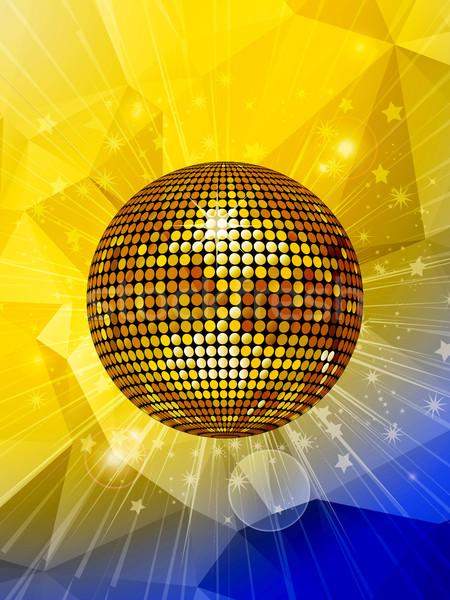 Disco ball star meetkundig gouden lens Stockfoto © elaine