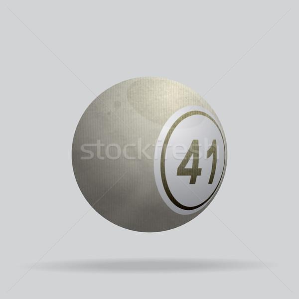 Elefántcsont anyag bingó labda 3d illusztráció lottó Stock fotó © elaine