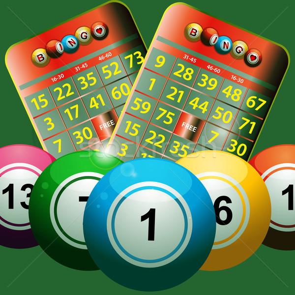 Nieuwe bingo kaarten groene Stockfoto © elaine