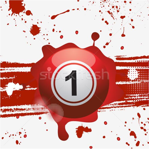 Rood bingo bal abstract loterij Stockfoto © elaine