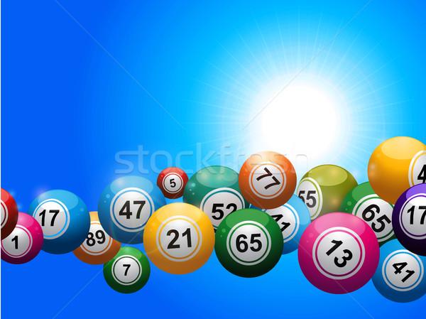 Bingo flutuante azul ensolarado céu Foto stock © elaine