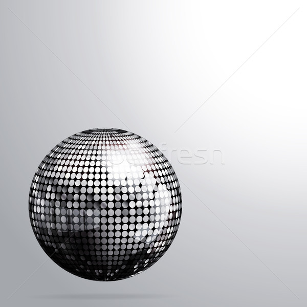 3D zilver disco ball schaduw 3d illustration dans Stockfoto © elaine