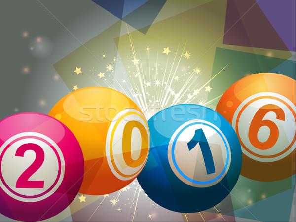 Bingo lottery balls 2016 Stock photo © elaine