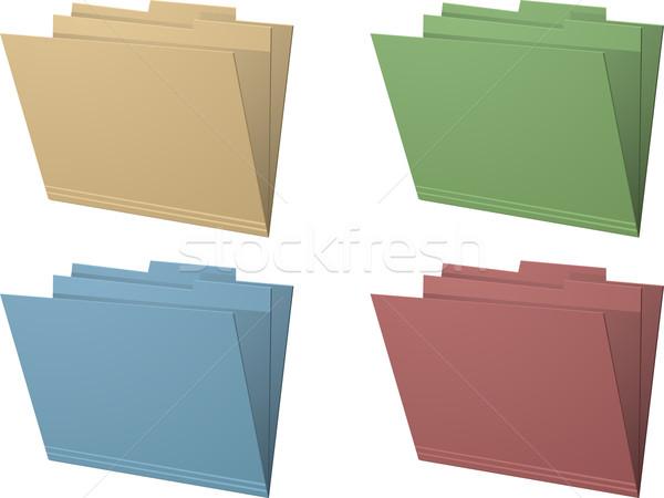 Manila folders vector illustration Stock photo © elaine