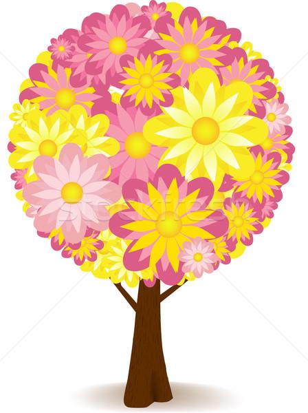 Сток-фото: аннотация · цветочный · дерево · вверх · цветы
