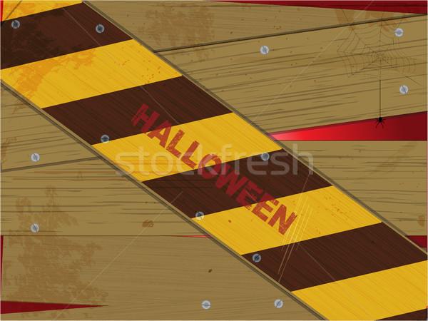 Halloween Grunge gelb braun Streifen Hintergrund Stock foto © elaine