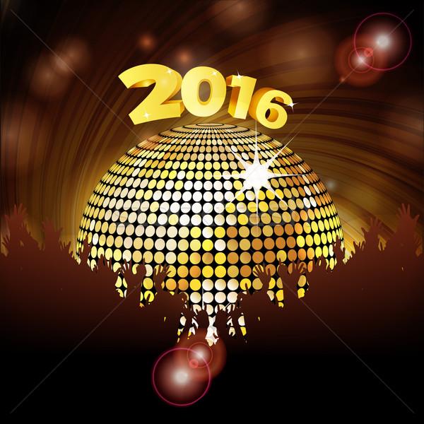 Disco Ball 2016 толпа новых Сток-фото © elaine