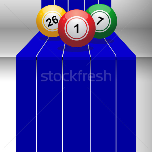 Bingo 3D stap Blauw Stockfoto © elaine