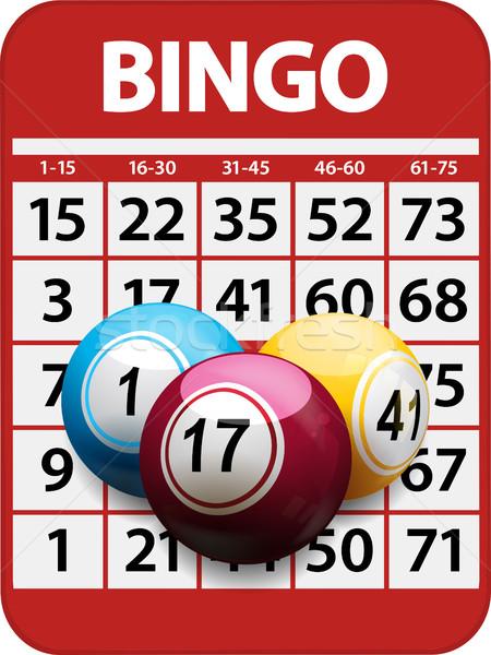 Bingo kaart Rood 3D portret Stockfoto © elaine