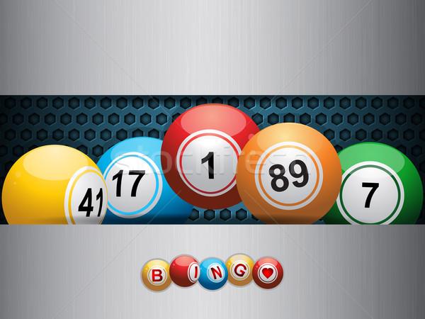 Bingo azul metálico prato flutuante Foto stock © elaine