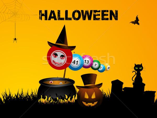 Bingo halloween seis festa fogo Foto stock © elaine