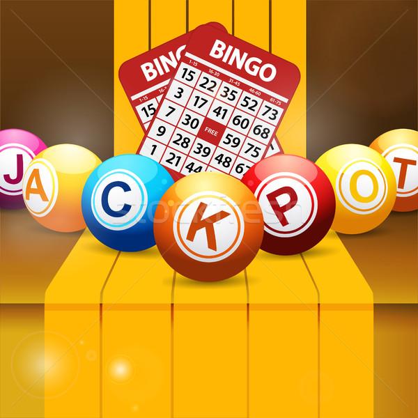 Bote bingo dorado pasos 3d Foto stock © elaine
