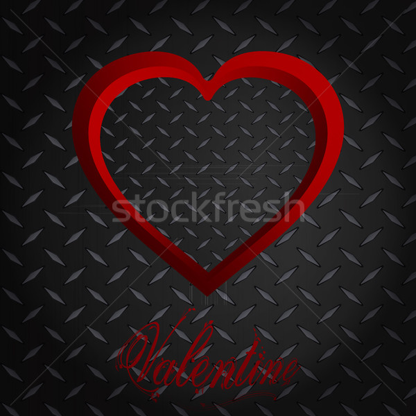 Valentine diamante coração texto vermelho quadro Foto stock © elaine