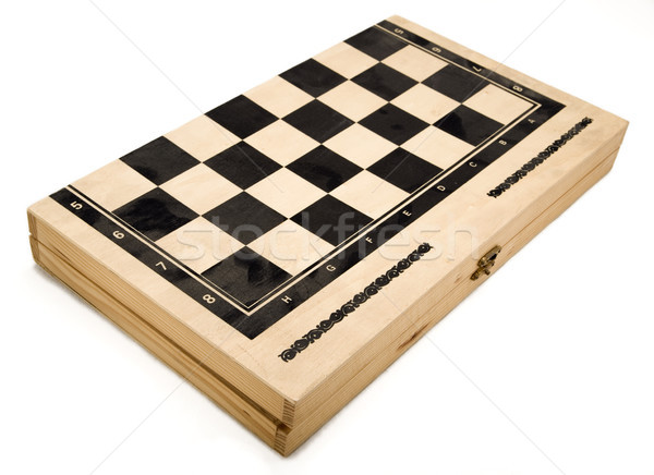 Isolated Backgammon Box - Closed Stock photo © eldadcarin