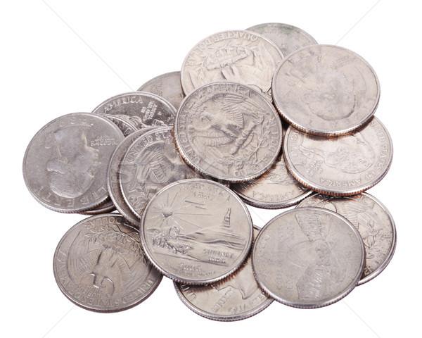 Pile of Quarters Stock photo © eldadcarin