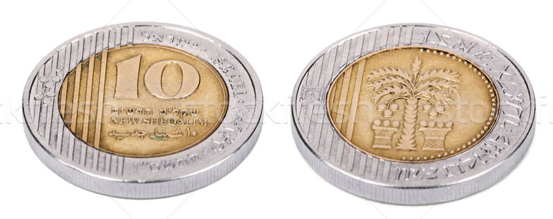 Isolated 10 Shekels - Both Sides High Angle Stock photo © eldadcarin