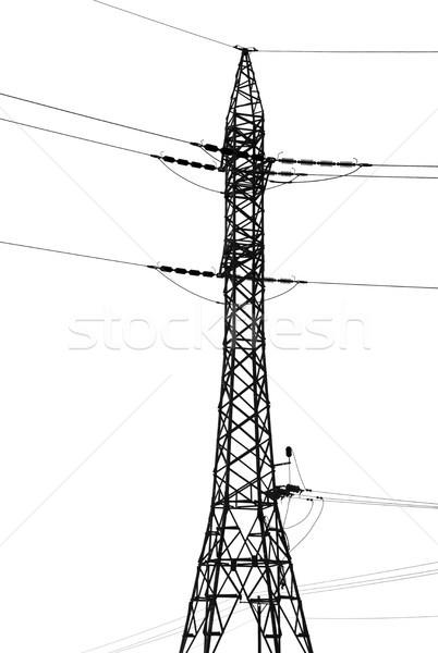 Isolated Electricity Pylon Stock photo © eldadcarin