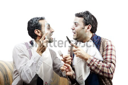 Wannabe Seniors Arguing at Dinner Stock photo © eldadcarin