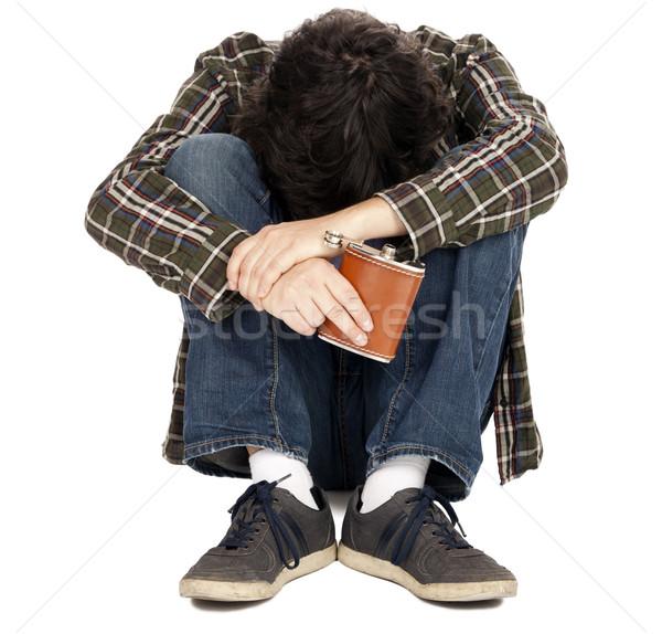 Anonimowy mężczyzna wcześnie 30s przypadkowy Zdjęcia stock © eldadcarin