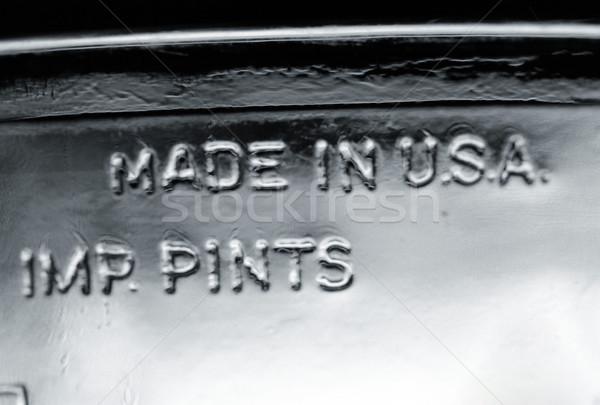 Photo stock: USA · alimentaire · résumé · verre · noir · et · blanc