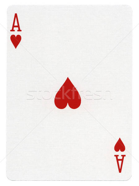 Playing Card - Ace of Hearts Stock photo © eldadcarin