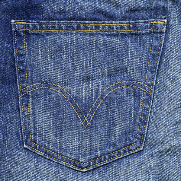 Denim Stoff Textur blau Tasche groß Stock foto © eldadcarin