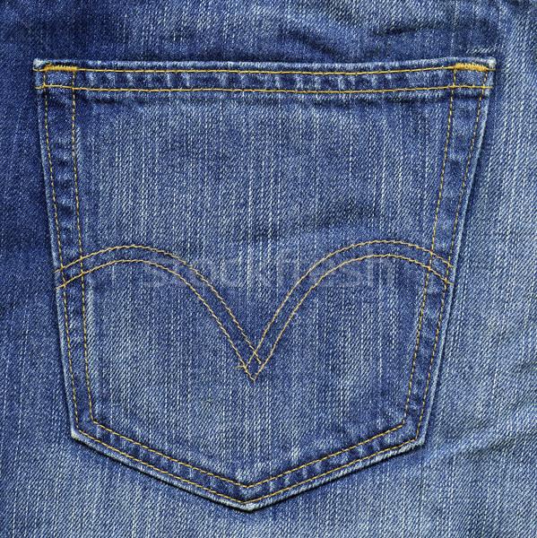 Brim tecido textura azul bolso alto Foto stock © eldadcarin
