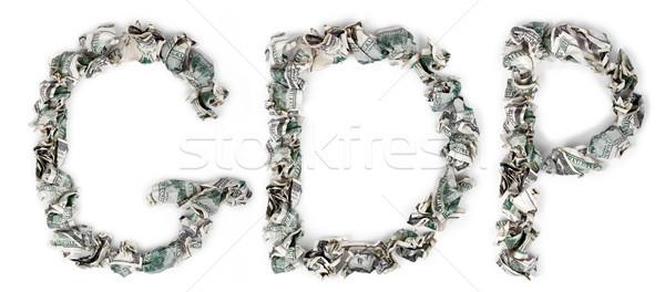 GDP - Crimped 100$ Bills Stock photo © eldadcarin