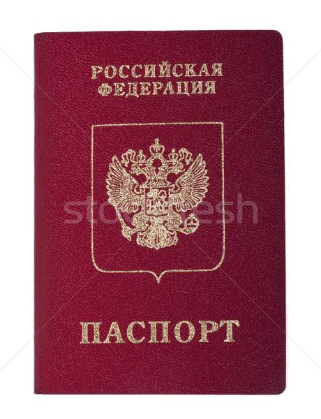 Stock fotó: Izolált · orosz · útlevél · fehér · papír · nyomtatott