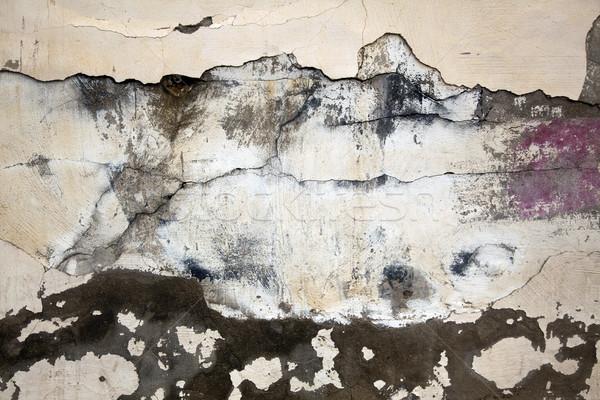 Zaniedbany ściany pęknięty obrane farby tekstury Zdjęcia stock © eldadcarin
