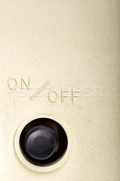 Przycisk czarny plastikowe piśmie powyżej Zdjęcia stock © eldadcarin