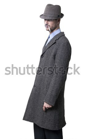 Mysteriously Smoking Mobster Stock photo © eldadcarin