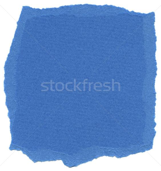 Isolated Fiber Paper Texture - Tufts Blue XXXXL Stock photo © eldadcarin
